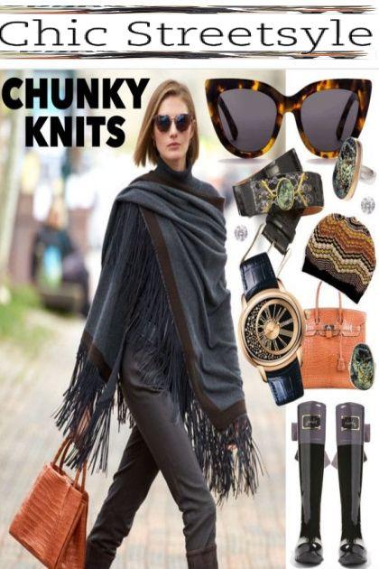 Chunky Knits: Cozy Streetstyle Fashion