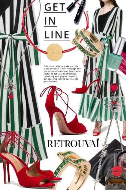 Get In Line: Green and White Stripes