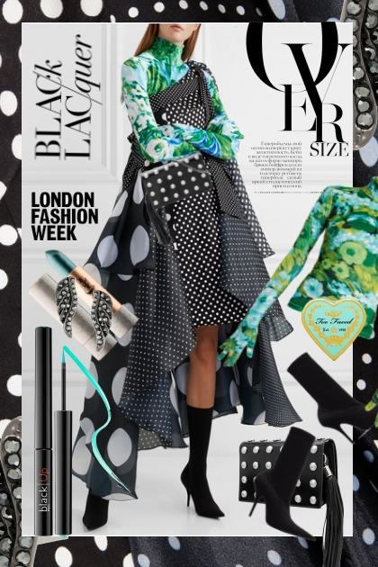 LFW: How to Wear Oversize Polka Dots
