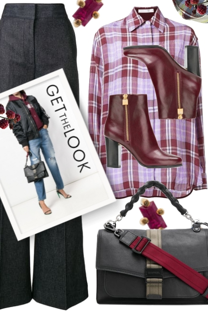 Get The Look: Burgundy Check and Blue