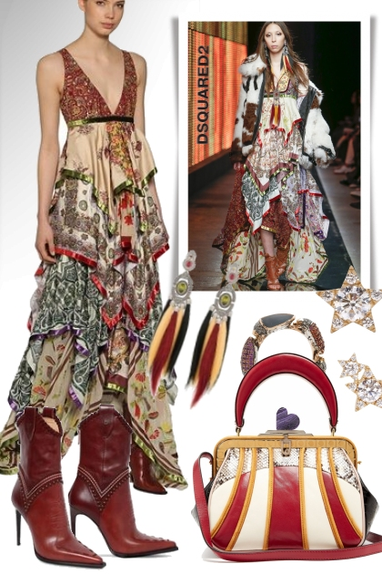 Dsquared2 Embellished Silk Chiffon Gown