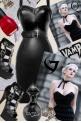 Deadly Dames Black Goth Wiggle Dress