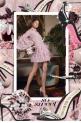 Marchesa Ostrich Feather Embellished  Dress