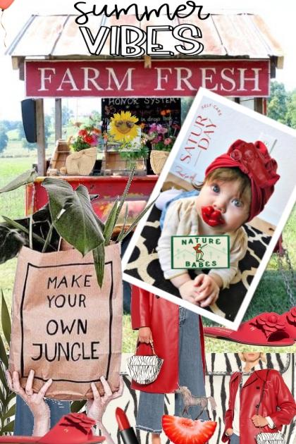 Farm Fresh Nature Babe- Combinazione di moda