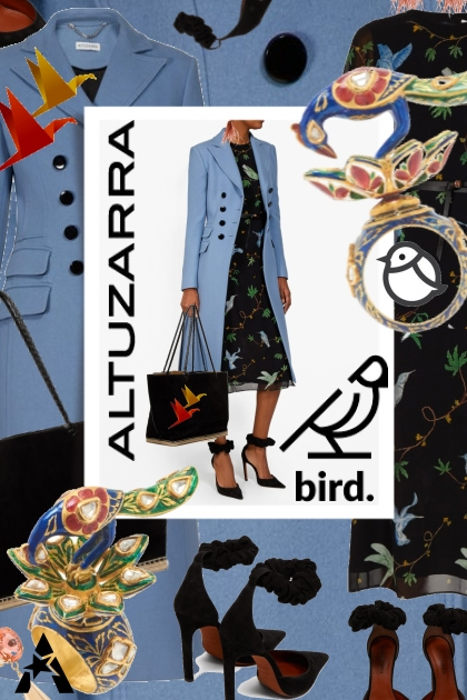 Altuzarra Bird Print Dress