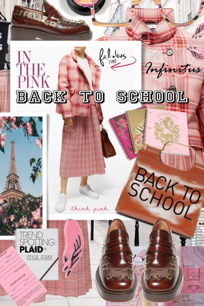 Trending Now Rust and Pink Plaid