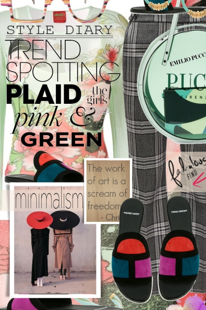 Dare to Mix Plaid, Pink and Green