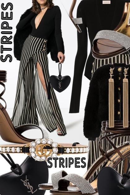 How to Wear Balmain Striped Wrap Trousers- Combinaciónde moda