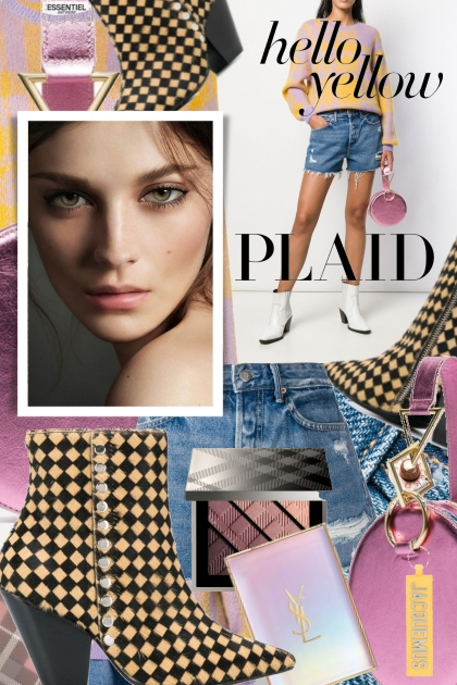 Trends to Check Out Yellow Plaid- Combinazione di moda