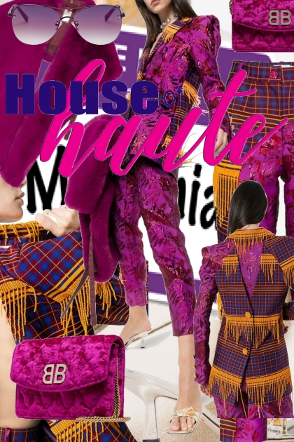 Millennial Purple House of Haute- Modna kombinacija