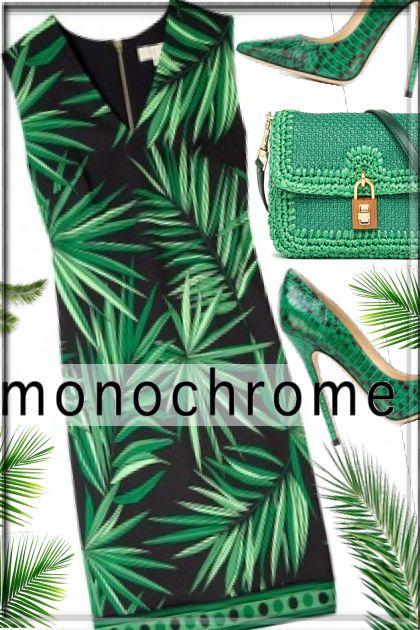 Happy Earth Day, MONOCHROME green
