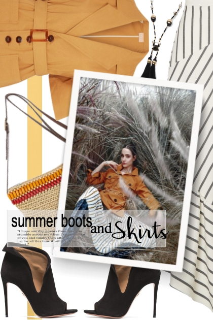 Summer boots and skirts