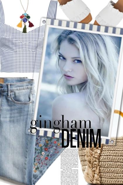 gingham and denim