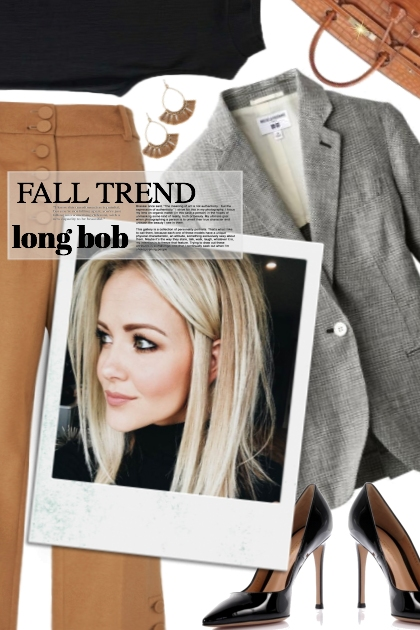 "Fall Trend ""The long Bob Cut"""