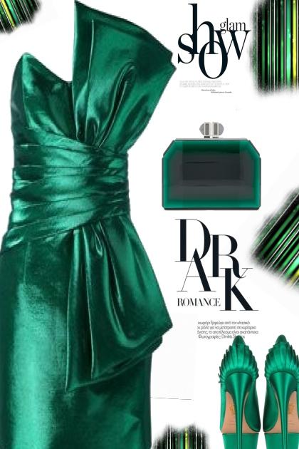 Green satin- Fashion set
