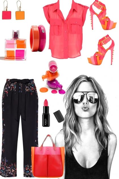 How to wear fuchsia and orange