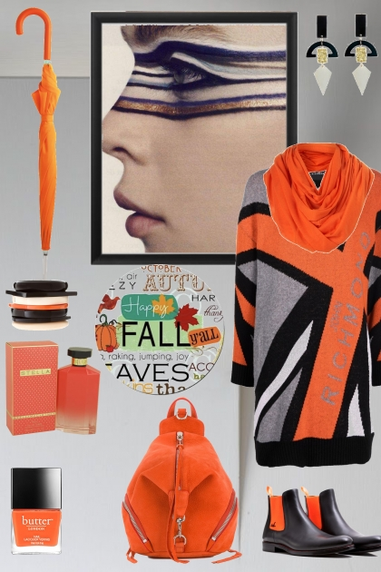 sweater dress orange and black prevalence