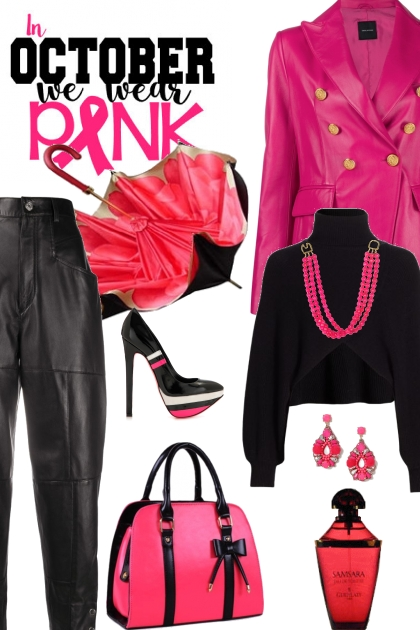 How to wear pink skin jacket