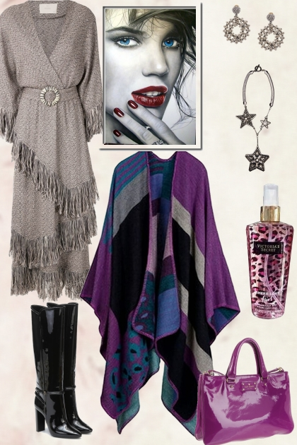 HOW TO WEAR MULTICOLOR CAPE