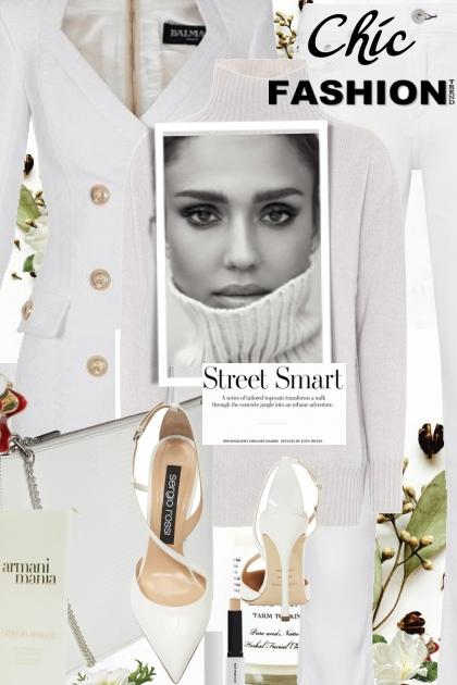 Chic Fashion....White on White