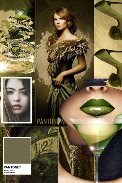 PANTONE COLOR OF THE YEAR * MARTINI OLIVE