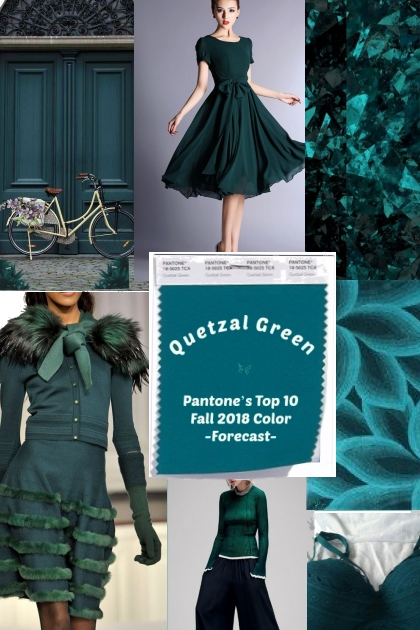 Quetzal Green Pantone's Top 10 Color- Fashion set