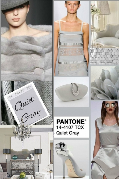 PANTONE CLSSIC COLOR * Quiet Gray