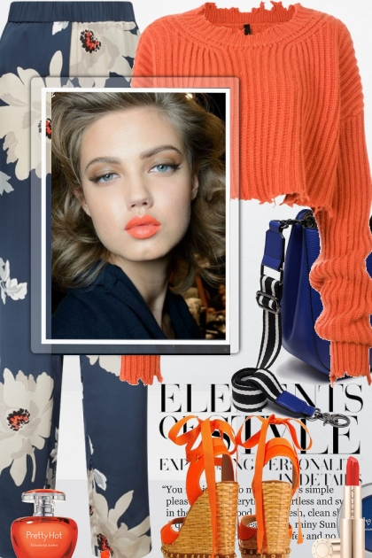 Elements of Style with Orange & Blue