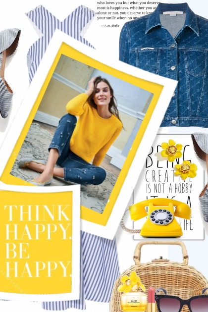 Think Happy Be Happy- Combinaciónde moda