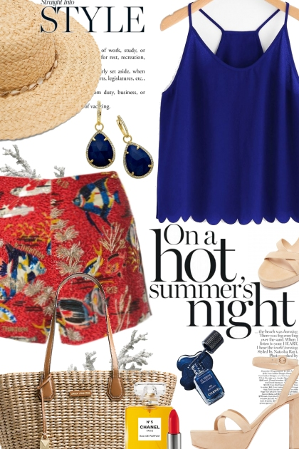 On a Hot Summer's Night- combinação de moda