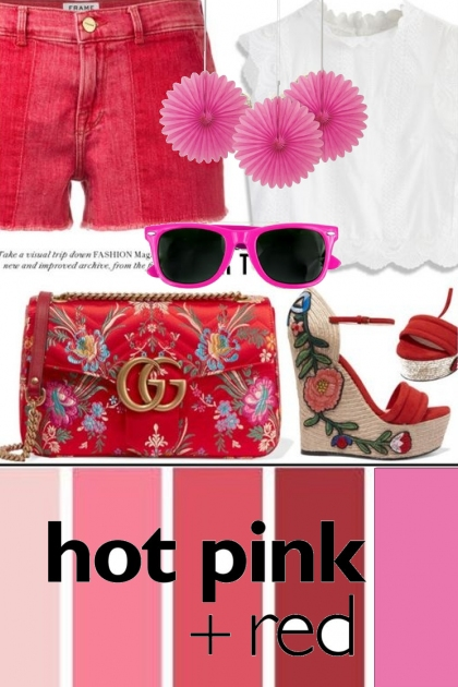 Hot Pink & Red
