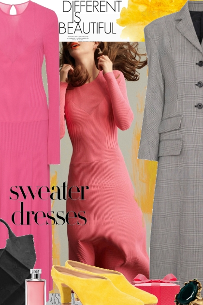 Be Different....in Sweater Dresses- Combinaciónde moda