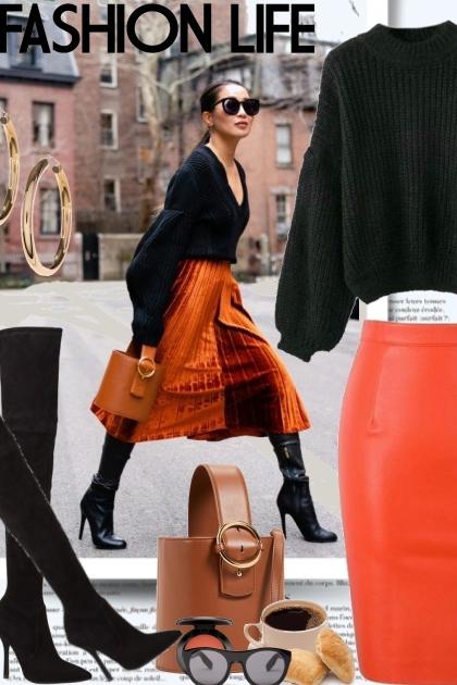 Fashion Life in Black & Orange