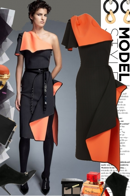 Model Style in Orange & Black