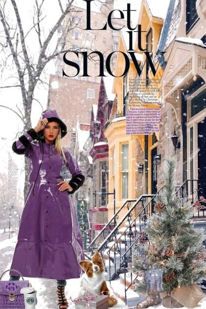 Let it Snow in Purple