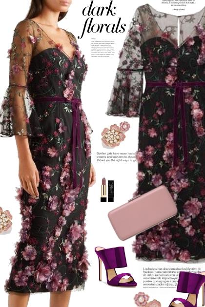Dark Floral Dress 2020
