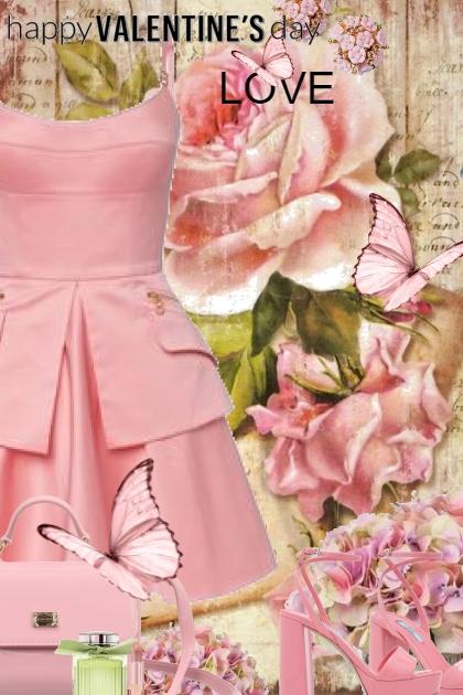 Happy Valentines Day in Pink