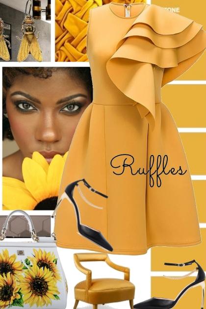 Sunflowers and Ruffles