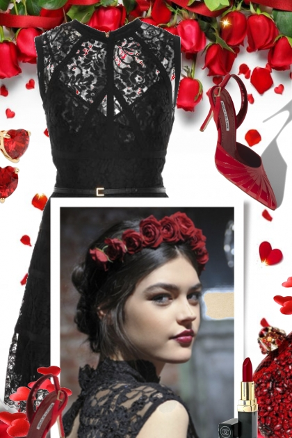 Valentines Day in Black Lace