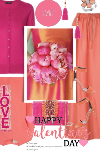 An Orange and Pink Valentine