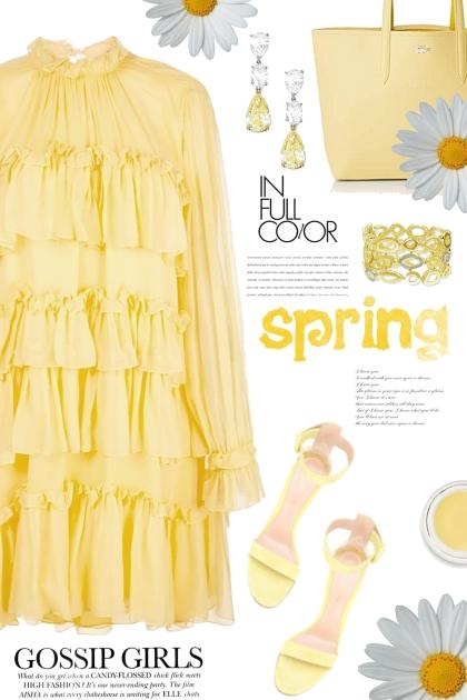 Spring in Yellow- Modna kombinacija