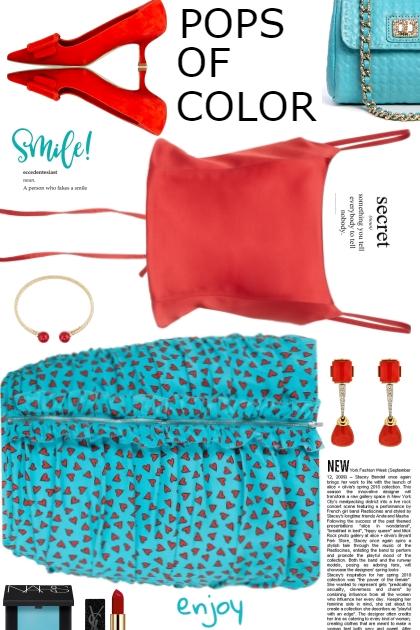 Pops of Color Makes Me Smile- Fashion set