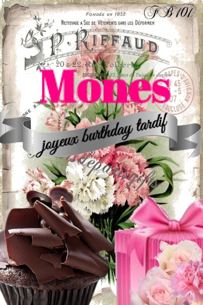 Mones....Happy Birthday Belated Dear