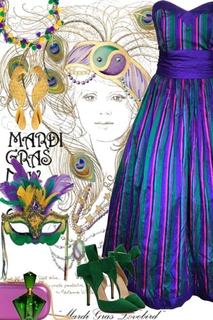 Mardi Gras Lovebird