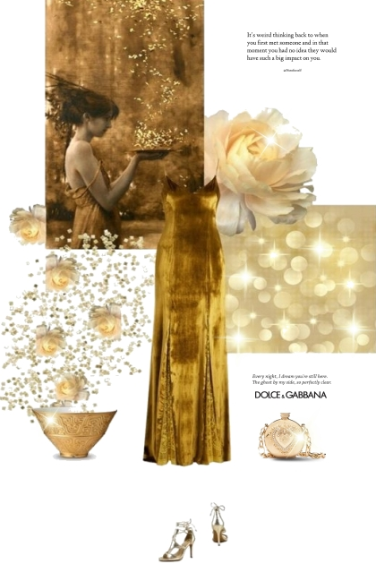 Dolce and Gabbana in Gold