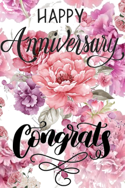Happy Anniversary ...Congrats