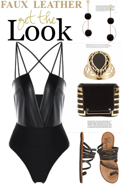 Faux Leather...Get The Look- Fashion set