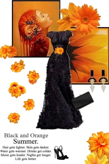 Black and Orange Summer