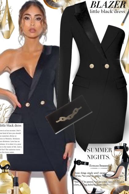 The Little Black Blazer Dress- Fashion set