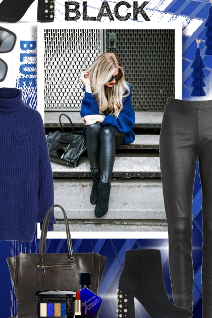 Black and Blue Color Trend